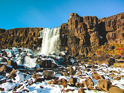 Oxararfoss Iceland Poster by Mirra Photography