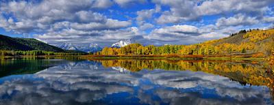 Oxbow Bend Peak Autumn Panorama Poster