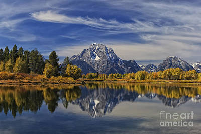 Oxbow Reflections Poster by Mark Kiver