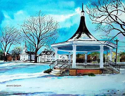 Oxford Bandstand Poster by Scott Nelson