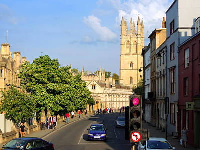 Oxford England With Magdalen College Poster by Marilyn Holkham