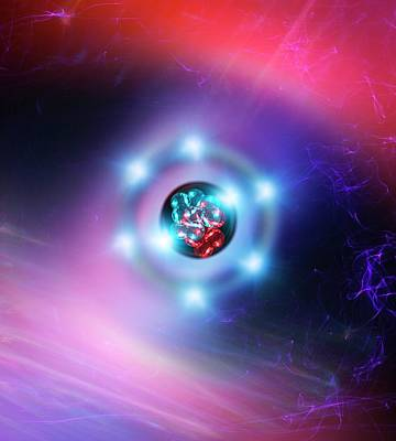 Oxygen Atom Poster by Richard Kail