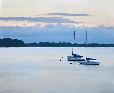 Oyster Bay Sailboats Poster by Anthony Stiso