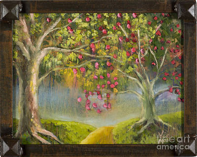 Oz Apple Orchard With Gold Leaf By Vic Mastis Poster by Vic  Mastis