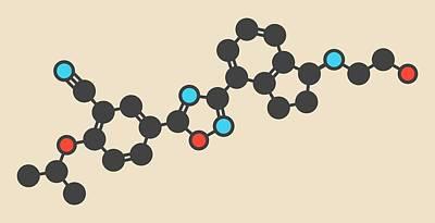 Ozanimod Anti-inflammatory Drug Molecule Poster by Molekuul