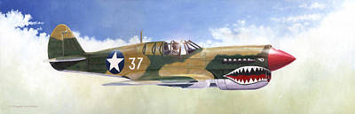 P-40e Warhawk Poster
