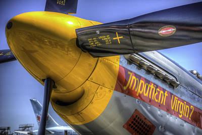 P-51 Impatient Virgin Poster by Spencer McDonald