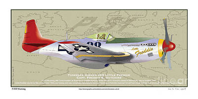 P-51  Poster by Kenneth De Tore