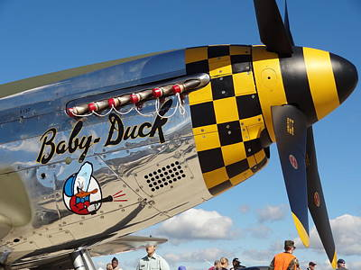 P-51 Mustang Baby Duck Poster