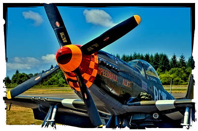 P-51 Mustang Poster by David Patterson