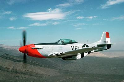 P-51 Mustang In Flight Poster by Us Air Force