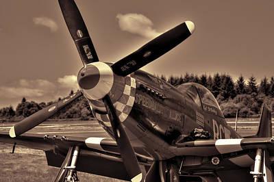 P-51 Mustang Speedball Alice Fighter Poster