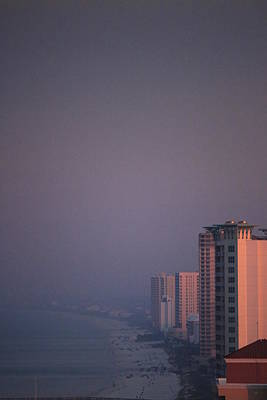 Panama City Beach In The Morning Mist Poster