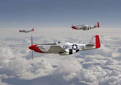 P51 - 334th Fighting Eagles Poster by Pat Speirs