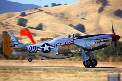 P51 Merlin's Magic On Take-off Roll Poster