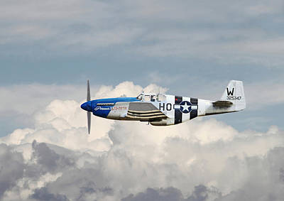 P51 Mustang Gallery - No2 Poster by Pat Speirs