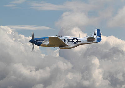 P51 Mustang Gallery - No3 Poster by Pat Speirs