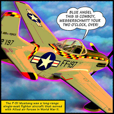 P51 Mustang Poster by Gary Grayson
