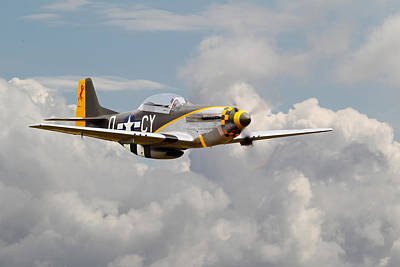 P51 Mustang - Miss Velma Poster by Pat Speirs