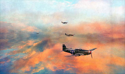 P51 Painted Poster by Jason Green