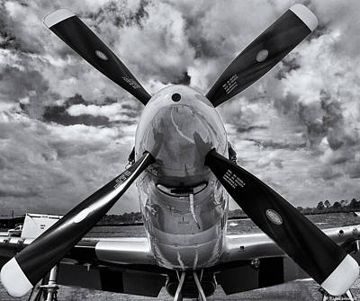 P51 Mustang Propeller Poster by Roger Wedegis