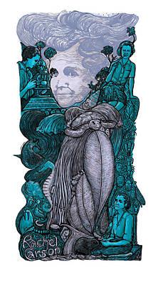 P846 Rachel Carson Poster by Ricardo Levins Morales