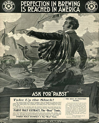 Poster featuring the digital art Pabst by Cathy Anderson