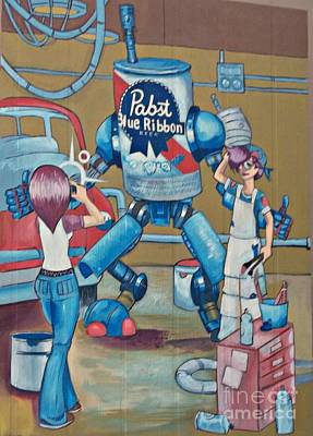 Pabst Mural In The Loop Poster