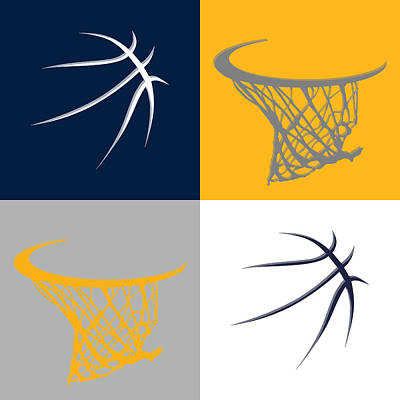 Pacers Ball And Hoop Poster