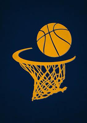 Pacers Team Hoop2 Poster by Joe Hamilton