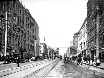 Pacific Avenue Tacoma 1907 Poster