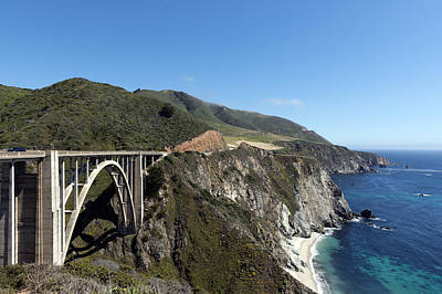 Pacific Coast Scenic Highway Bixby Bridge Poster