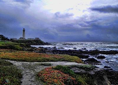 Poster featuring the photograph Pacific Lighthouse by Kathy Churchman