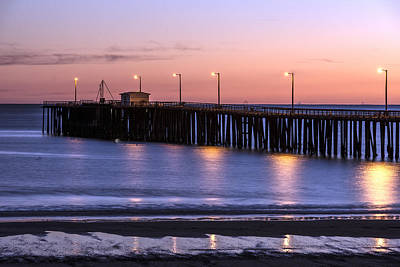 Pacific Ocean At The Pismo Beach Pier  Poster