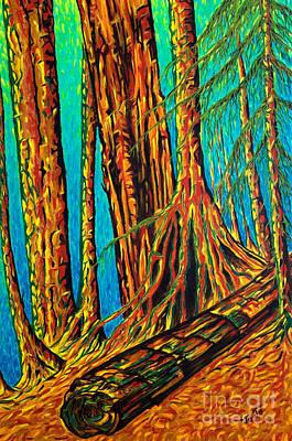 Pacific Rim National Park Cedars Poster by Jo-Anne Elniski