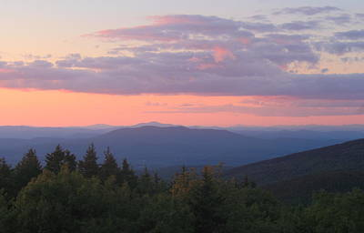 Pack Monadnock Mountain Sunset Summit View Poster by John Burk