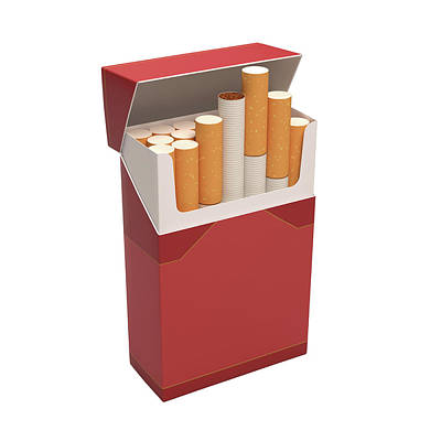 Packet Of Cigarettes Poster by Ktsdesign