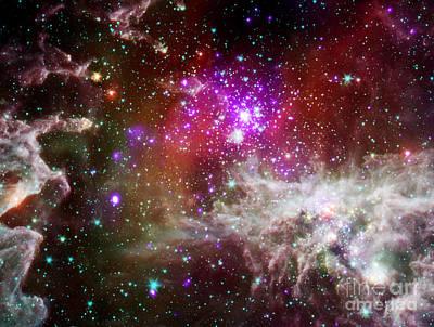 Pacman Nebula Poster
