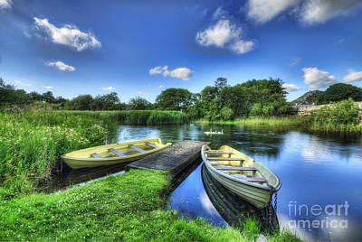 Padarn Boats Poster by Darren Wilkes
