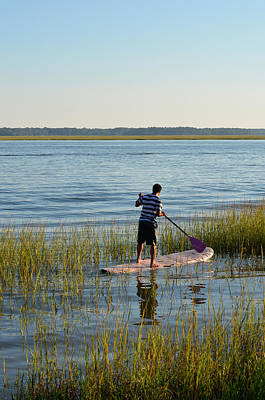 Poster featuring the photograph Paddleboarder by Margaret Palmer