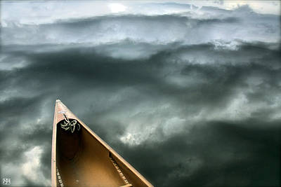 Paddling Before The Storm Poster