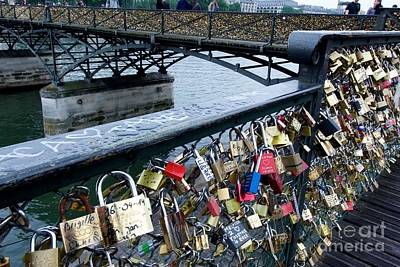 Padlocks On The Pont Des Arts. Paris. France Poster