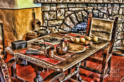 Padre's Table By Diana Sainz Poster