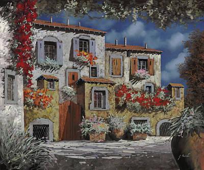 Paesaggio Al Chiar Di Luna Poster by Guido Borelli