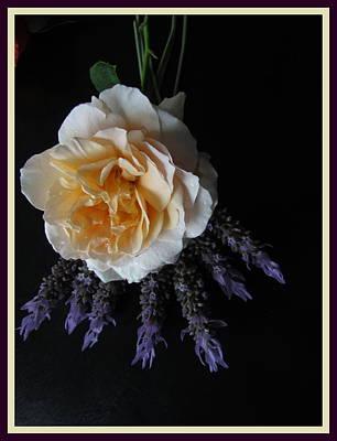 Pail Yellow Rose Poster by Joyce Woodhouse