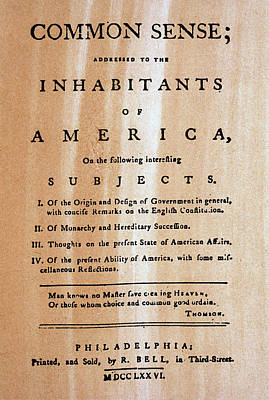 Paine: Common Sense, 1776 Poster by Granger