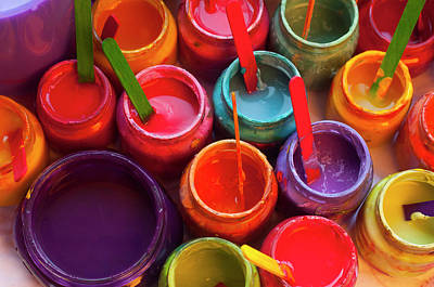 Paint Jars Poster by Alixandra Mullins