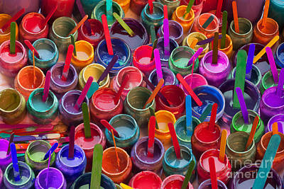 Paint Jars Popsicle Stix Poster by Alixandra Mullins