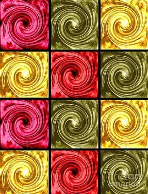 Paint Swirls 3 Poster