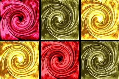 Paint Swirls 5 Poster by Ann Calvo